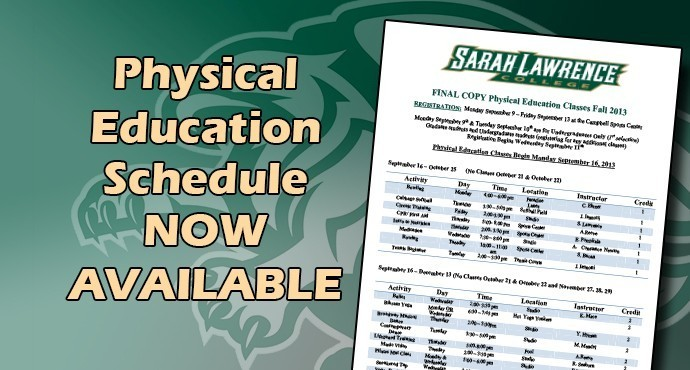 Physical Education Schedule Posted